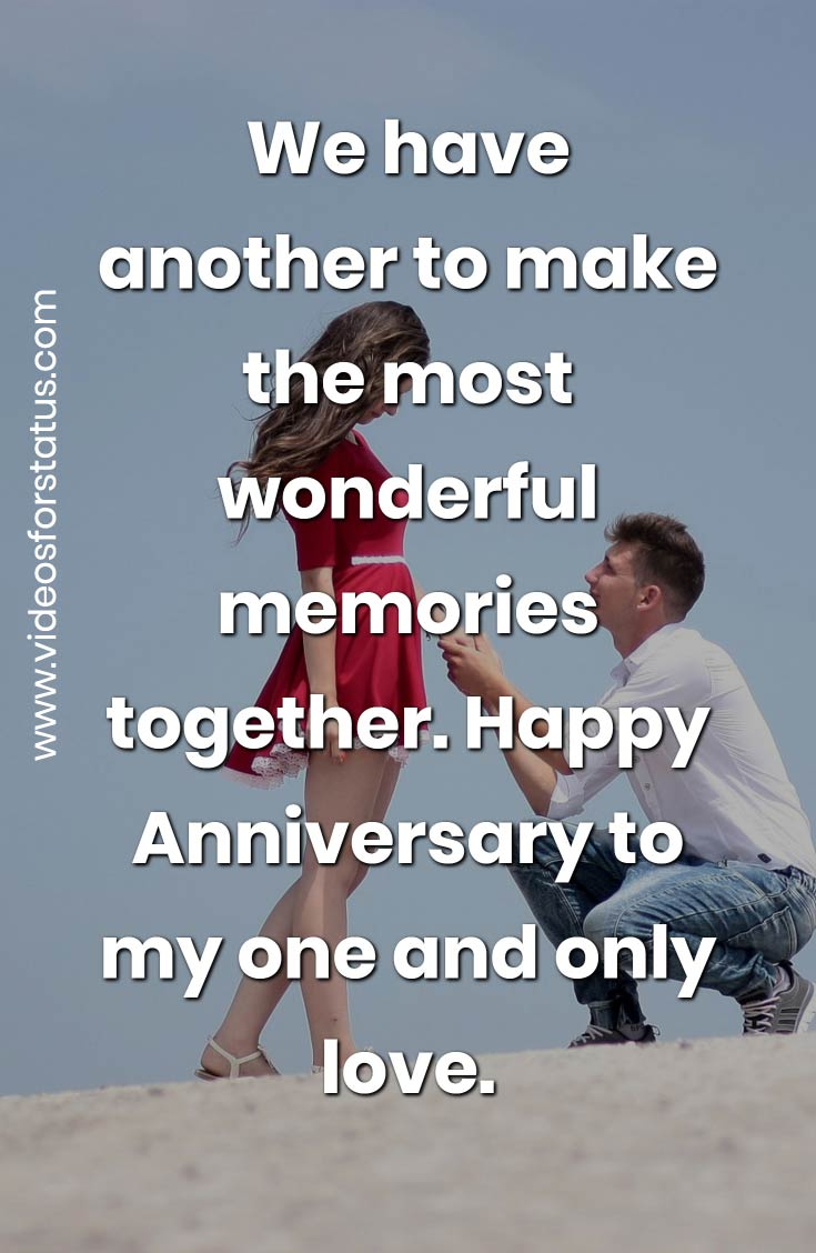 Love Anniversary Status for boyfriend