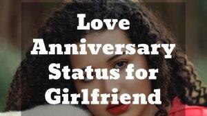 Love Anniversary Status for girlfriend